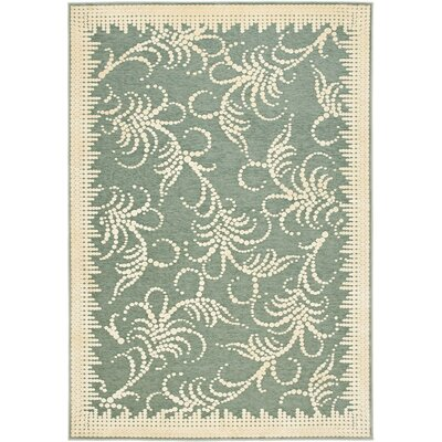 Fountain Swirl Hand-Loomed Blue Area Rug Rug Size: 53 x 76