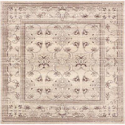Eya Ivory Area Rug Rug Size: Square 10