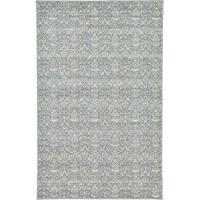 Alcera Gray Area Rug Rug Size: 5 x 8