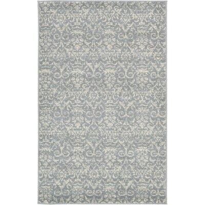 Alcera Gray Area Rug Rug Size: 33 x 53