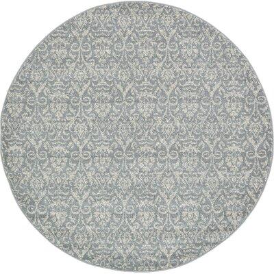 Alcera Gray Area Rug Rug Size: Round 6