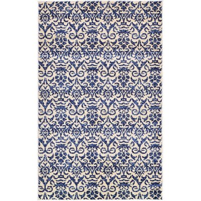 Avignon Blue Area Rug Rug Size: 33 x 53