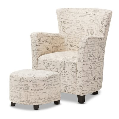 2-Piece Katherine Arm Chair & Ottoman Set