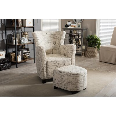 Sherine Armchair and Ottoman