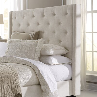 Fares Upholstered Wingback Headboard Size: Queen, Color: Ivory