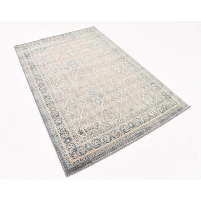 Claire Gray Area Rug Rug Size: 4 x 6