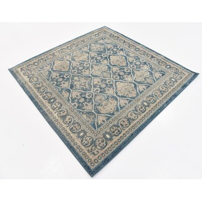 Claire Light Blue Area Rug Rug Size: Square 5