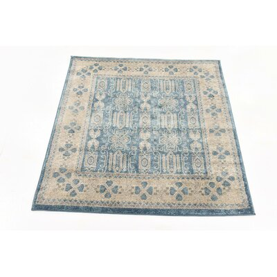 Claire Light Blue Area Rug Rug Size: Square 4