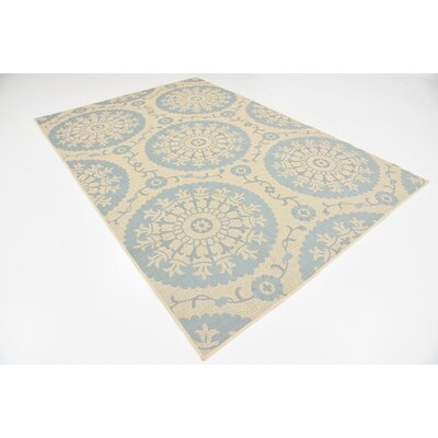 Lillie Beige Outdoor Area Rug Rug Size: 6 x 9
