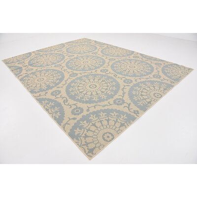 Lillie Beige Outdoor Area Rug Rug Size: 9 x 12