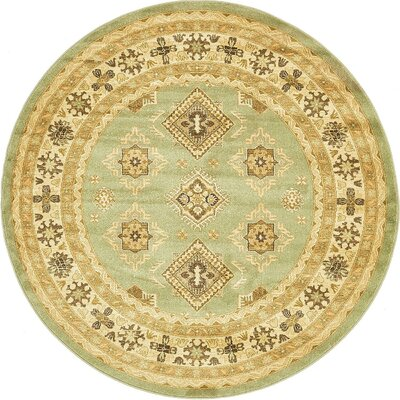 William Light Green Area Rug Rug Size: Round 6 x 6