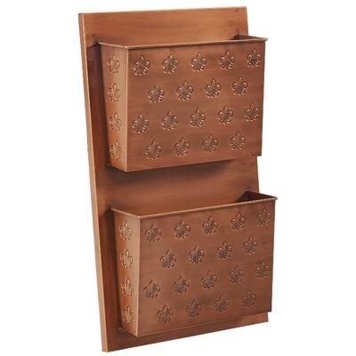 2 Slot Fleur-de-lis Wall Shelf