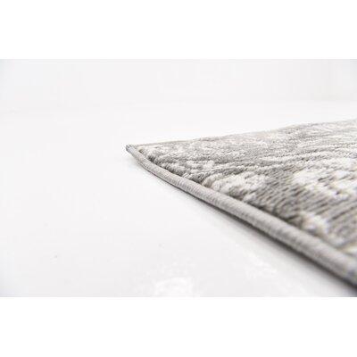Argyle Gray Area Rug Rug Size: 9 x 12