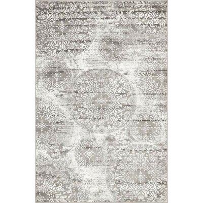 Argyle Gray Area Rug Rug Size: 5 x 8