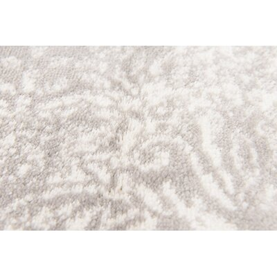 Brandt Light Gray Area Rug Rug Size: Rectangle 4 x 6