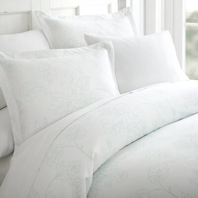 Jacob 3 Piece Duvet Cover Set Color: Aqua, Size: Twin