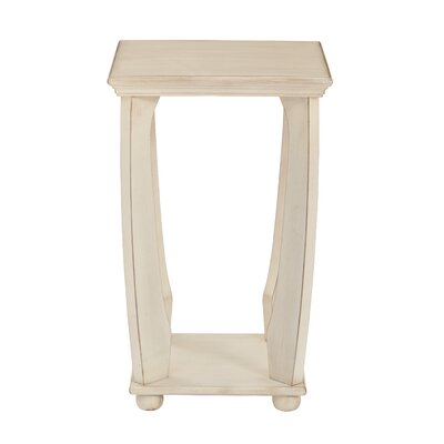 Stephane End Table Finish: Antique White