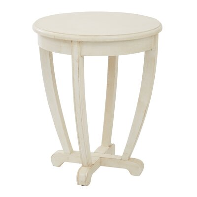 Esmond End Table Color: Cream