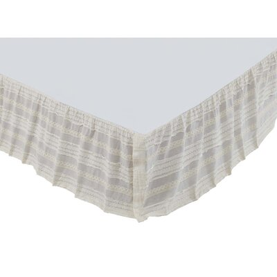 Willandra Bed Skirt Size: King, Color: Creme