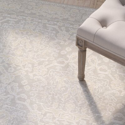 Elise Champagne Area Rug Rug Size: 66 x 96