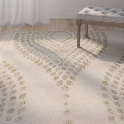Talence Hand-Tufted Sand/Brown Area Rug Rug Size: Square 5