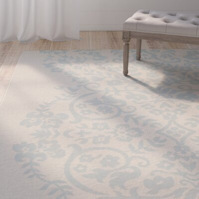 Tapestry Blue/Tan Area Rug Rug Size: Rectangle 27 x 5