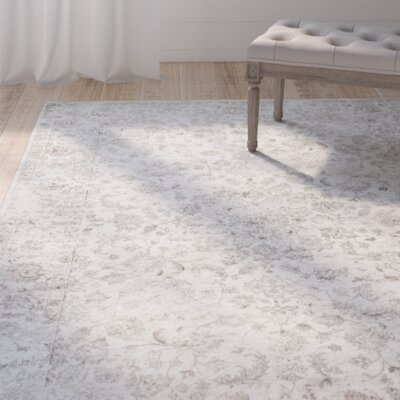 Benoit Silver Area Rug Rug Size: Runner 22 x 611