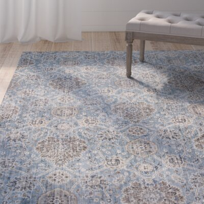 Benoit Slate Blue Area Rug Rug Size: 710 x 112