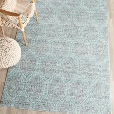 Longeville Gray/Baby Blue Area Rug Rug Size: 9 x 12