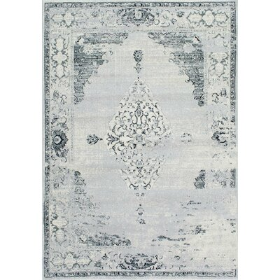 Allemans Gray Area Rug Rug Size: 3 x 5