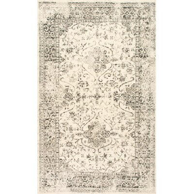 Dions Gray Area Rug Rug Size: 82 x 116
