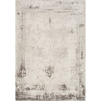 Chartres Hand-Woven Ivory Area Rug Rug Size: Rectangle 4 x 6