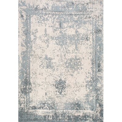 Chartres Hand-Woven Blue Area Rug Rug Size: 4 x 6