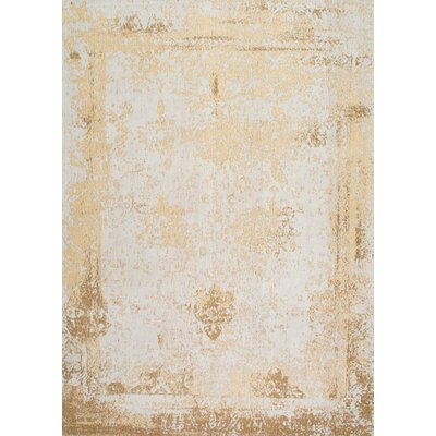 Chartres Hand-Woven Cream Area Rug Rug Size: 4 x 6