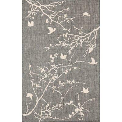 Platt Plum Blossom Silver/Gray Indoor/Outdoor Area Rug Rug Size: 3'3