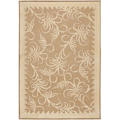 Fountain Swirl Hand-Loomed Taupe Area Rug Rug Size: Rectangle 710 x 112