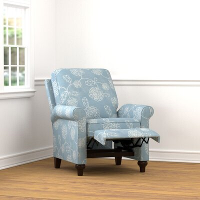 Gilland Push Back Recliner Upholstery: Blue Floral