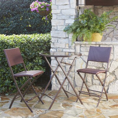 Slusser 3 Piece Bistro Set Finish: Dark Brown
