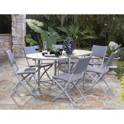 Slusser 7 Piece Dining Set Finish: Gray