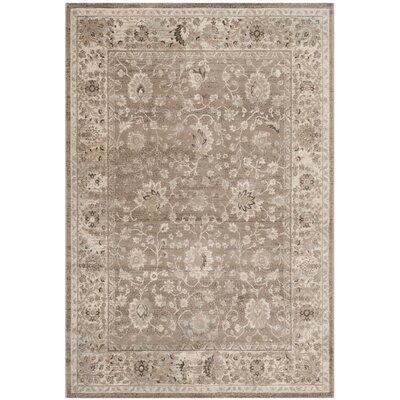 Talmont Light Grey / Ivory Rug Rug Size: 4 x 57