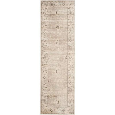 Talmont Light Gray/Ivory Area Rug Rug Size: Runner 22 x 10