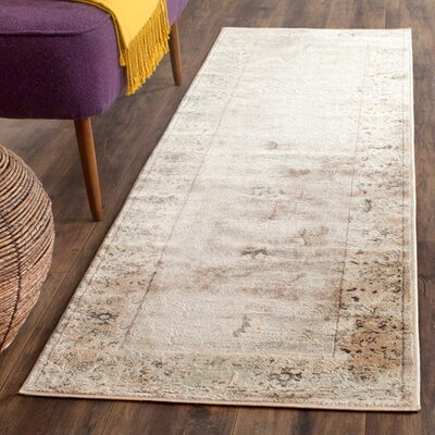 Talmont Ivory Rug Rug Size: Runner 22 x 72
