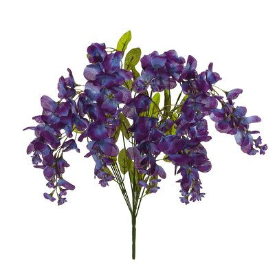 Wisteria Bush Flowers (Set of 6) Flower Color: Vibrant Purple/Lavender Tones LARK8669 34538757