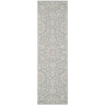 Leonard Grey/Silver Area Rug Rug Size: Runner 23 x 12