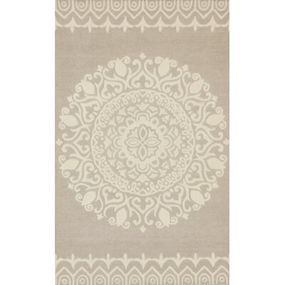 Leonard Hand-Tufted Beige/Ivory Area Rug Rug Size: Rectangle 26 x 4