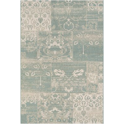 Argent Sea Mist Indoor/Outdoor Area Rug Rug Size: Runner 22 x 71