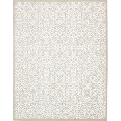 Mathieu Snow White/Beige Area Rug Rug Size: 10 x 13