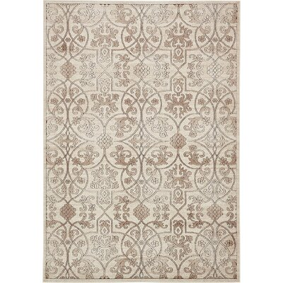 Mathieu Dark Beige/Brown Area Rug Rug Size: 4 x 6