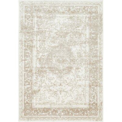 Andelle Gray/Beige Area Rug Rug Size: 4' x 6'