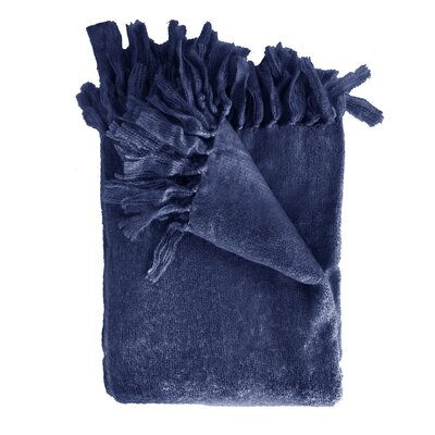 Clematite Throw Blanket Color: Navy